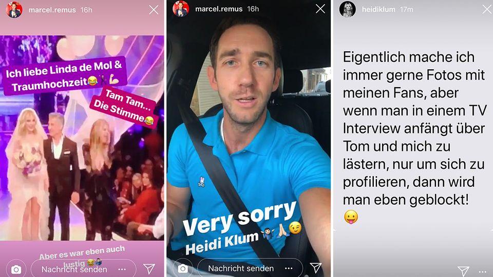 Heidi Klum blockiert Marcel Remus bei Instagram