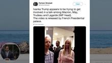 Ivanka Trump will krampfhaft bei Small-Talk mitmischen – Macron zeigt ihr die kalte Schulter