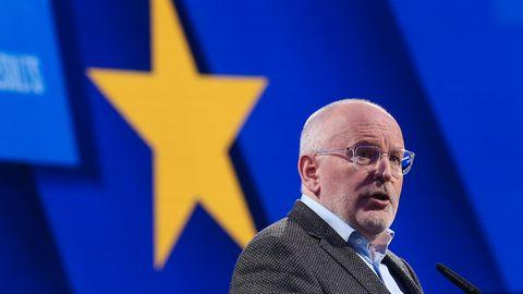 Frans Timmermans bei einer Rede vor dem EU-Parlament