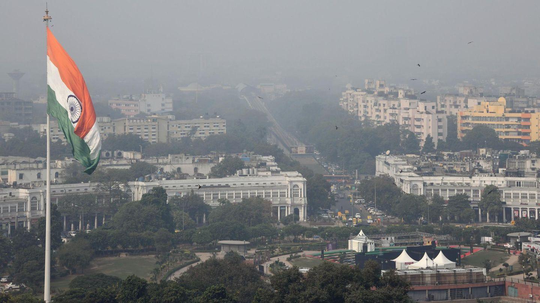 Blick über Indiens Hauptstadt Neu-Delhi