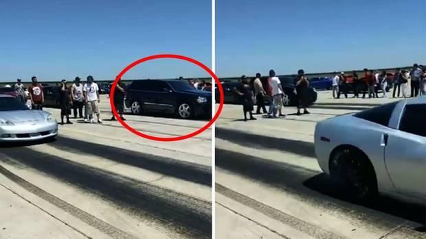 Falschen Gang eingelegt – Autofahrer blamiert sich beim Anfahren