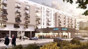 Ein Modell von Aldis Wohnquartier