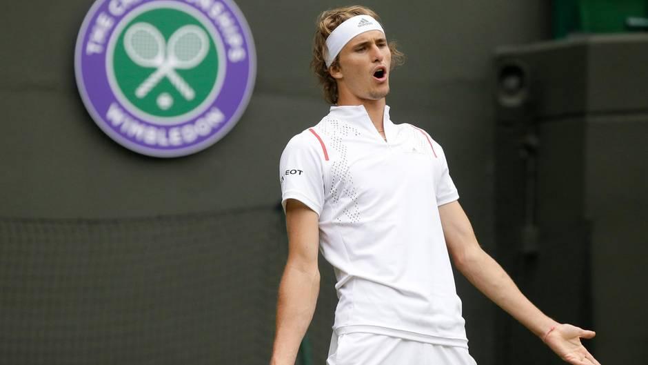 Alexander Zverev muss nach der 1. Runde in Wimbledon die Koffer packen