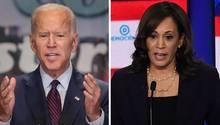 Die US-Demokraten Joe Biden undKamela Harris