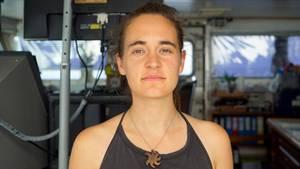Carola Rackete, deutsche Kapitänin der Sea-Watch 3,an Bord des Rettungsschiffs
