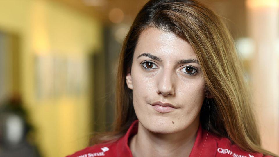 Die Schweizer Fußball-Nationalspielerin Florijana Ismaili