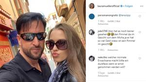 Michael Wendler und Laura Müller auf Instagram