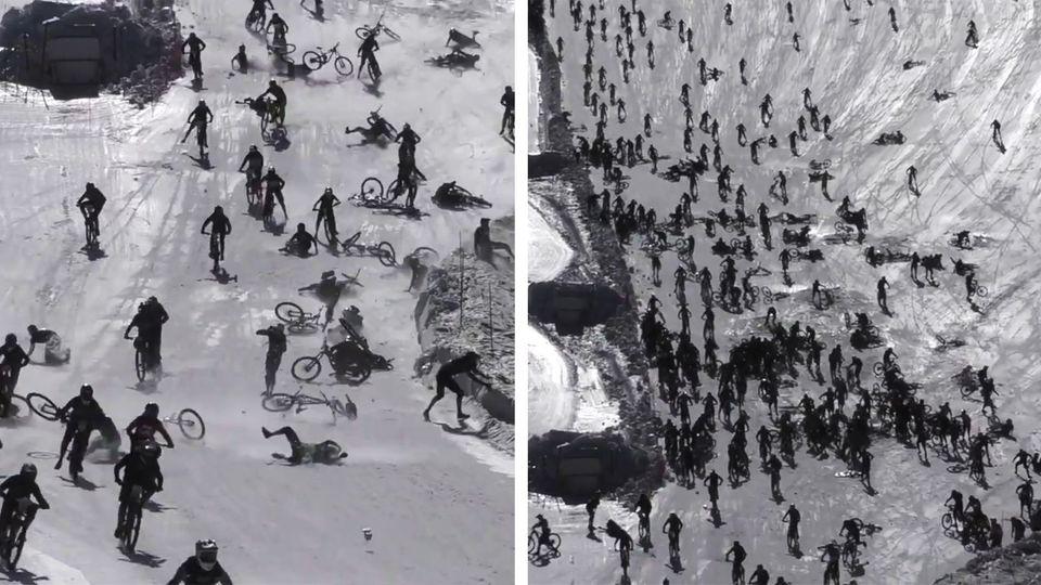 """Massencrash beim """"Mountain of Hell""""-Rennen"""