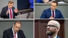 Von links oben nach rechts unten: Johann Wadephul, Jens Spahn, Henning Otte und Peter Tauber