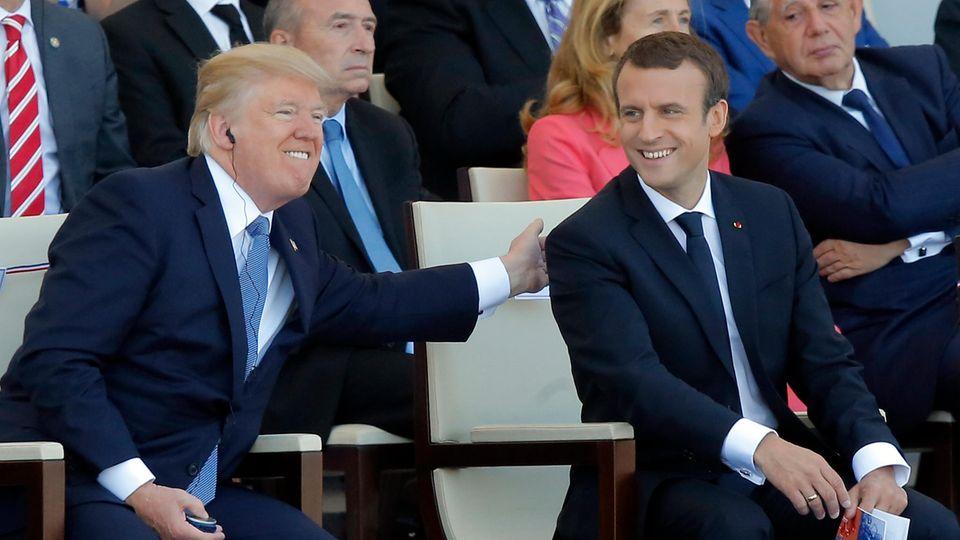 Der französische Präsident Emmanuel Macron und US-Präsident Donald Trump