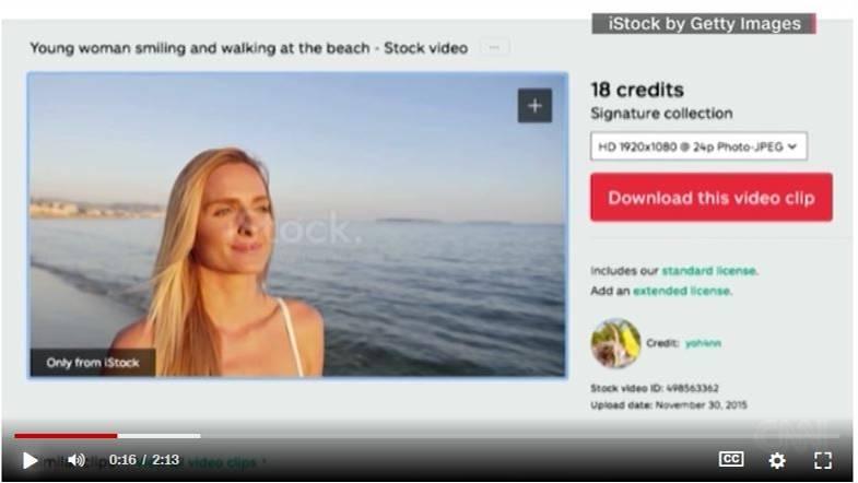 """Screenshot aus dem Stockvideo mit """"Tracey"""""""