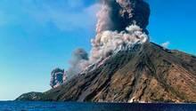 Zwei Kilometer hoch schleuderte der Stromboli Asche, Gestein und Rauch in die Luft