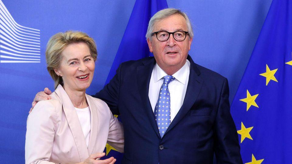 Ursula von der Leyen und ihr potenzieller Vorgänger Jean-Claude Juncker