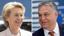 Kombo Ursula von der Leyen und Viktor Orban