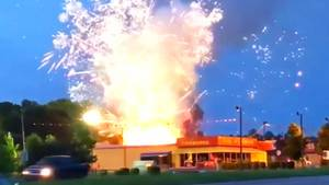 USA: Container mit Feuerwerkskörper explodiert am Nationalfeiertag – das war so nicht geplant