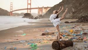 Ein wunderschöner Spot, mit Golden Gate Bridge im Hintergrund. Nur leider ist alles vermüllt.