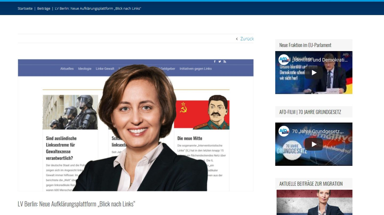 AfD Webportal gegen Links