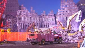 Das Stahlgerüst des WTC
