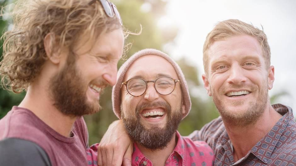 Drei Männer im Urlaub