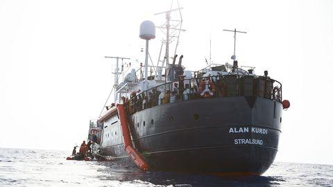 """Rettungsschiff """"Alan Kurdi"""" mit Kurs auf Lampedusa"""