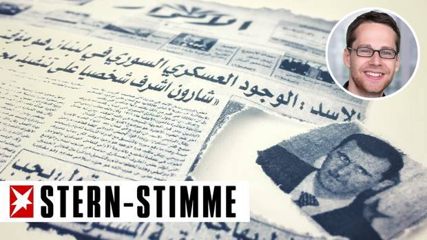 Die Vermieterin schnitt die Bilder von Assad immer erst aus den Zeitungen aus, bevor sie sie alsals Toilettenpapier verwendete