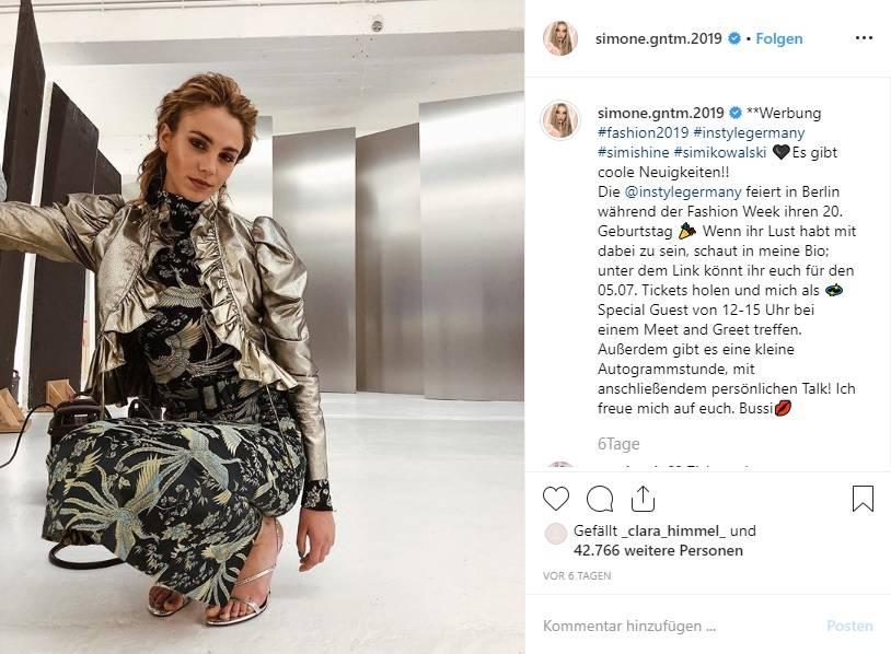 Simone Kowalski zeigte sich auf der Fashion Week Berlin