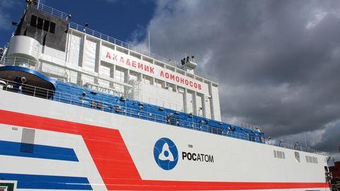 Das schwimmende Atomkraftwerk Akademik Lomonossow.