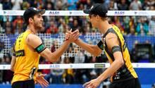 Sie sind das Beste, was der deutsche Beachvolleyball derzeit zu bieten hat: Clemens Wickler (l.) und Julius Thole.