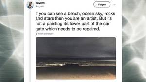 Optische Täuschung auf Twitter und Reddit: Ist das ein Strand oder ein Garagentor?