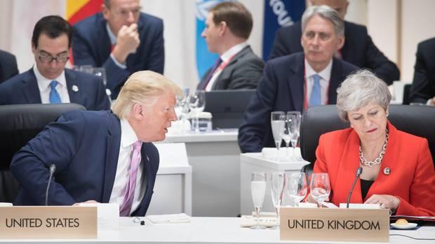US-Präsident Donald Trump und die scheidende britische Premierministerin Theresa May