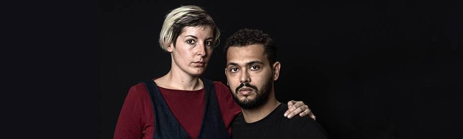 Terrorüberlebende Chloé De Bacco und Mehdi Zaidi