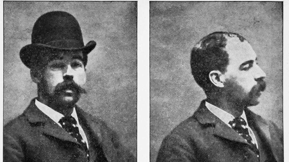 Zwei Potraits von H.H. Holmes alias Herman Webster Mudget