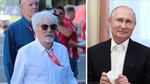 Bernie Ecclestone (li.) und Russlands Präsident Wladimir Putin