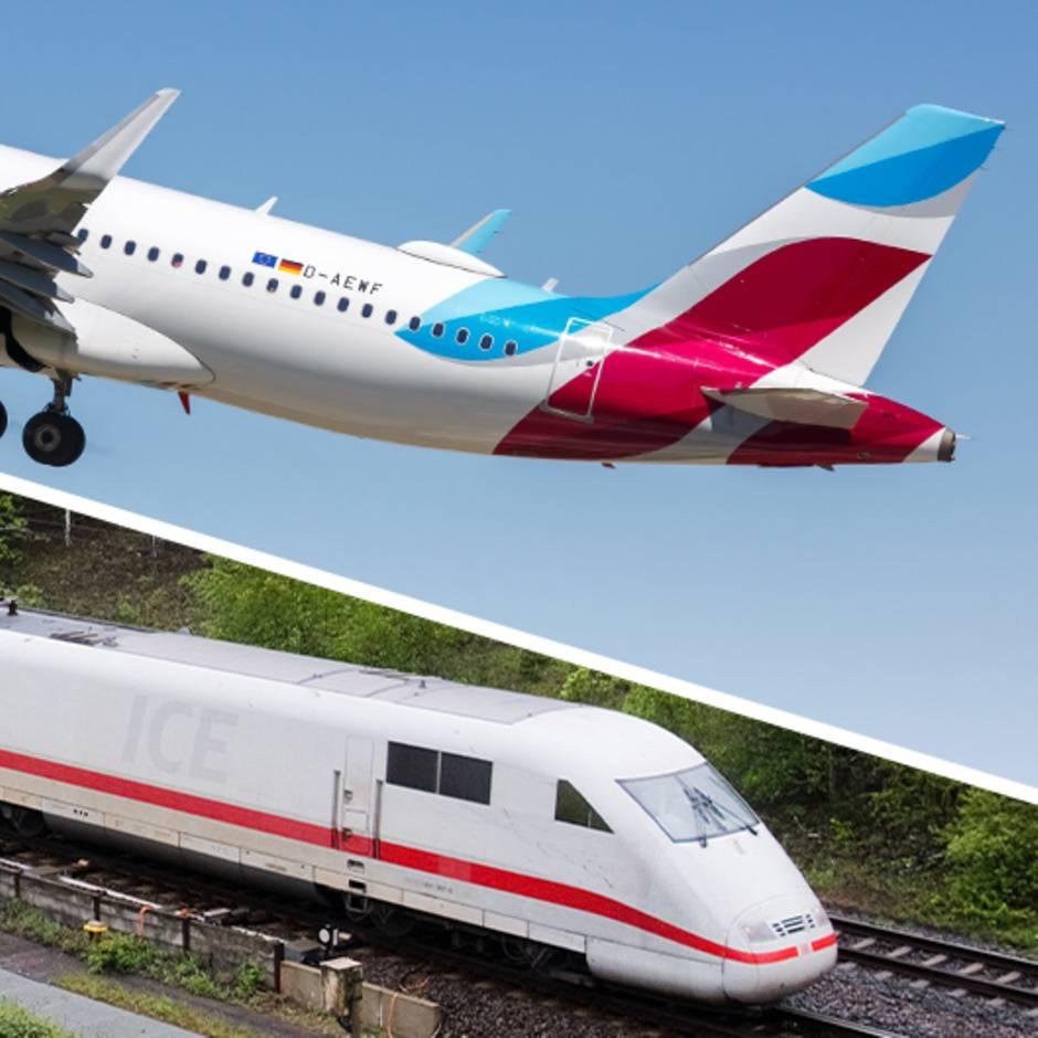 Zwischen München und Berlin: Diese Zahlen zeigen, warum die Bahn keine Alternative zum Flugzeug ist
