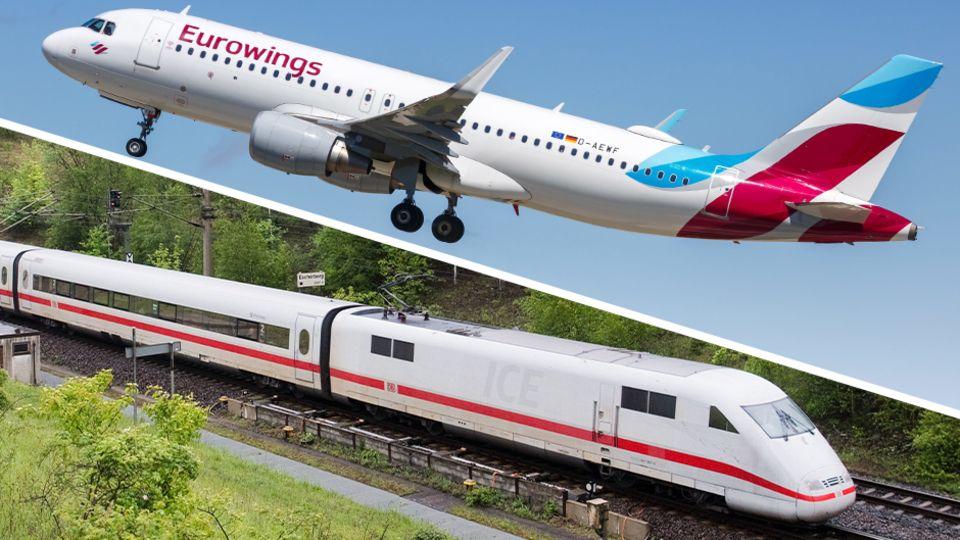 Konkurrenz für Lufthansa, Easyjet und Eurowings: Die Bahn legt die Strecke von München nach Berlin mit ihren ICE-Sprinter-Zügen in knapp vier Stunden zurück.