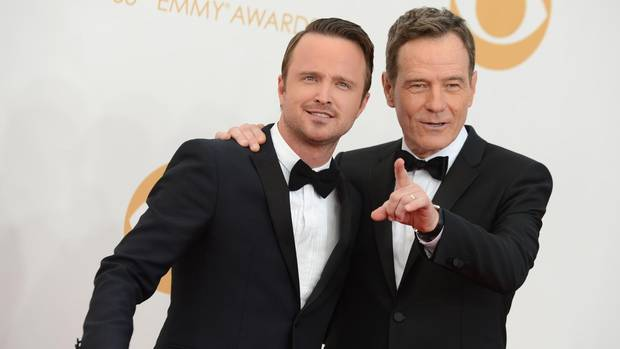 """Breaking Bad""-Stars Aaron Paul und Bryan Cranston"