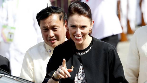 Die neuseeländische Premierministerin Jacinda Ardern bei einem Termin