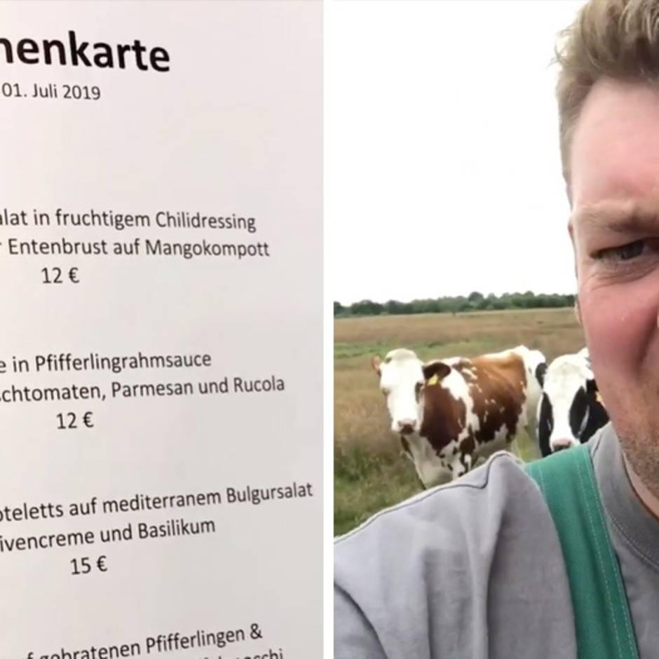 """Argentinien, Irland, Frankreich: Bauer regt sich über Speisekarte im Bundestag auf: """"Kein einziges Stück Fleisch aus Deutschland"""""""
