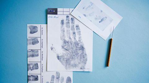 Finger- und Handabdrücke, Spurenkarte