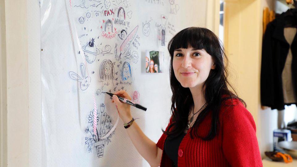 """Die """"Kreativ-Ecke""""von Sarahs WG in Hamburg."""