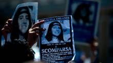 Emanuela Orlandi - Plakat mit Aufschrift verschwunden