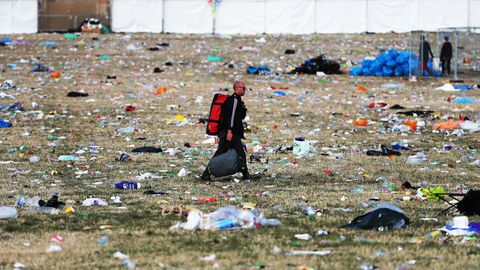 Müllberge beim Glastonbury Festival 2019