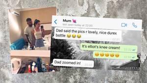 Urlaubsbild an Eltern und deren Reaktion