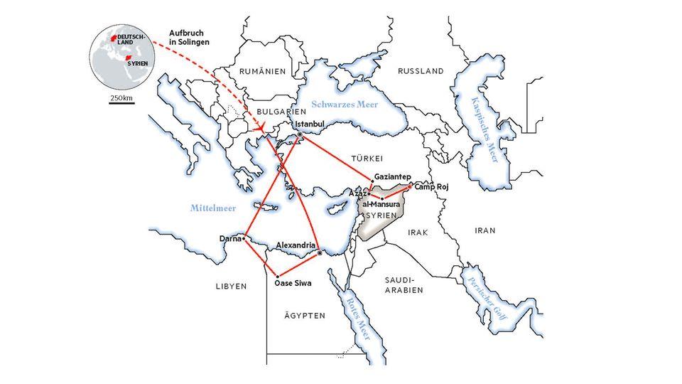 Aischas Route in den IS