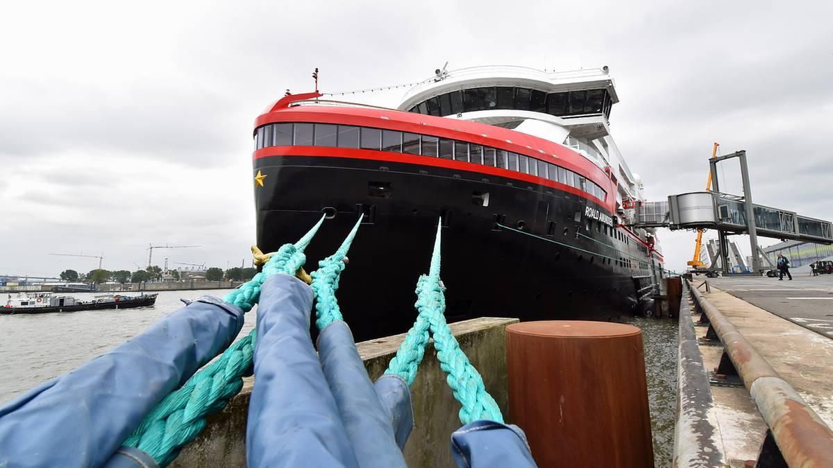 """Neues Flaggschiff von Hurtigruten: """"MS Roald Amundsen"""": So sieht das erste Hybrid-Expeditionsschiff der Welt aus"""