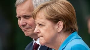 Bundeskanzlerin Angela Merkel (CDU) mit Finnlands Ministerpräsidenten Antti Rinne