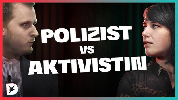 Teaser Diskuthek Polizei vs. Aktivistin
