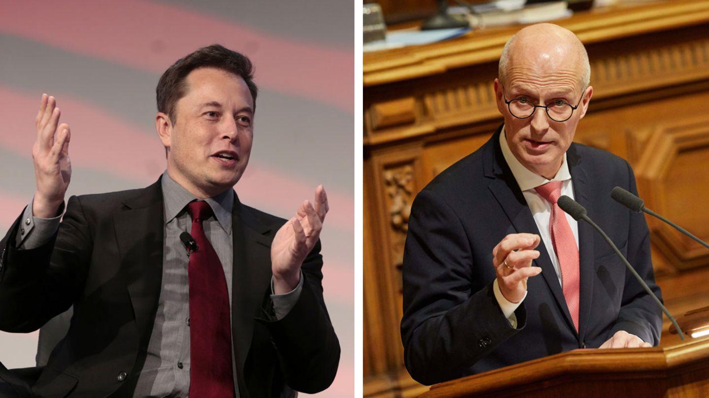 Elon Musk und Peter Tschenscher