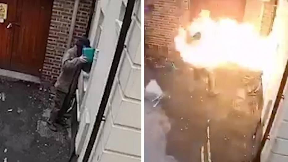 Brandanschlag auf Synagoge: Rassist zündet sich selbst an