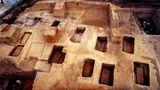 Archäologische Ruinen der Stadt Liangzhu, China
